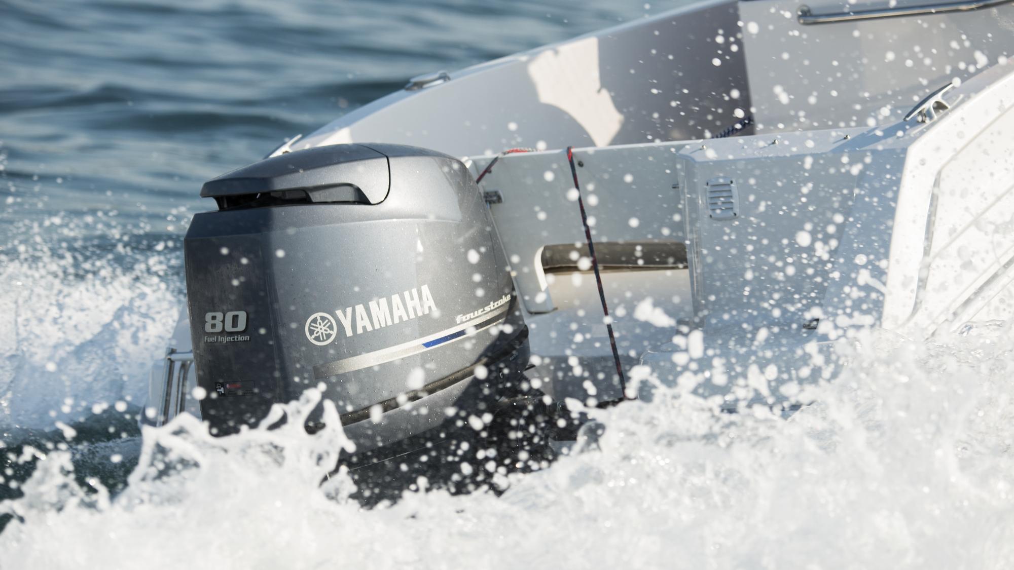 motore fuoribordo yamaha F80 e F100 venduti online da rivenditore autorizzato yamaha a mira provincia di venezia vicino a padova e treviso e vicenza. companymarine srl