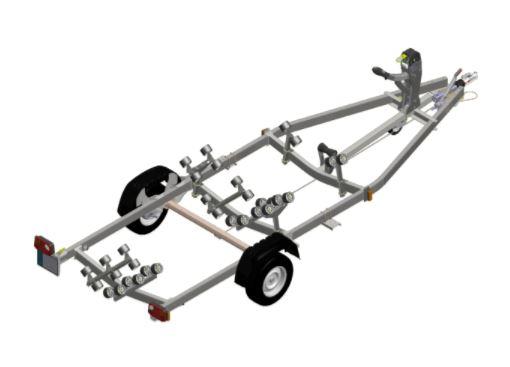 rimorchio satellite companymarine venezia 1000 kg