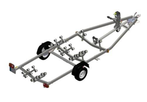 rimorchio satellite companymarine venezia 1300 kg