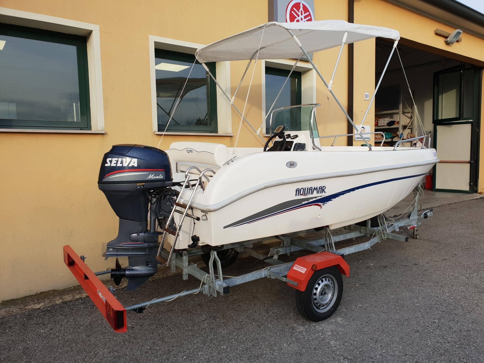 Foto Barca open Aquamar + Selva F40 + Carrello stradale - 9