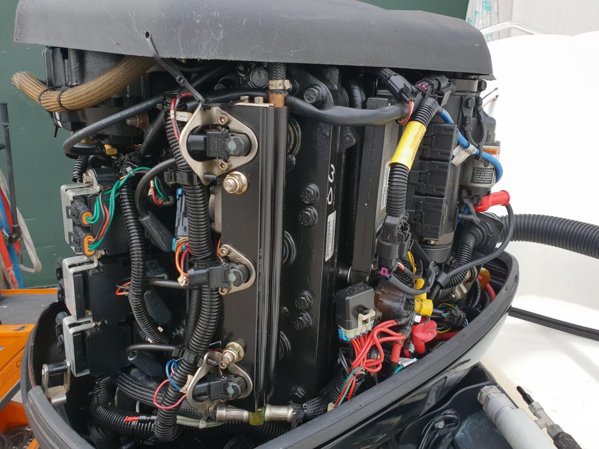 Foto Motore Fuoribordo Usato Mercury 135 Optimax L - 5