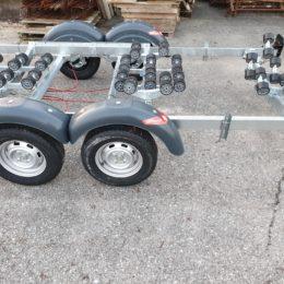 carrello satellite doppioasse 2200 kg italia nuovo
