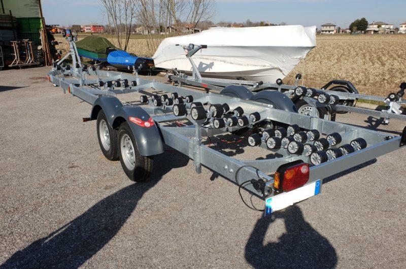 rimorchio 2 assi trasporto barche 3500 kg