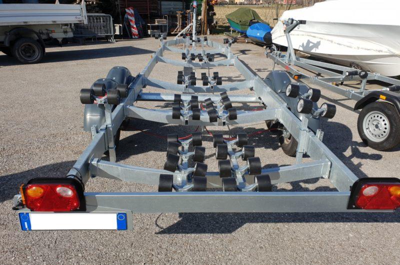 carrello porta gommone 3500 kg due assi
