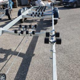 rulleria deluxe satellite rimorchio 3500 kg per barche e gommoni