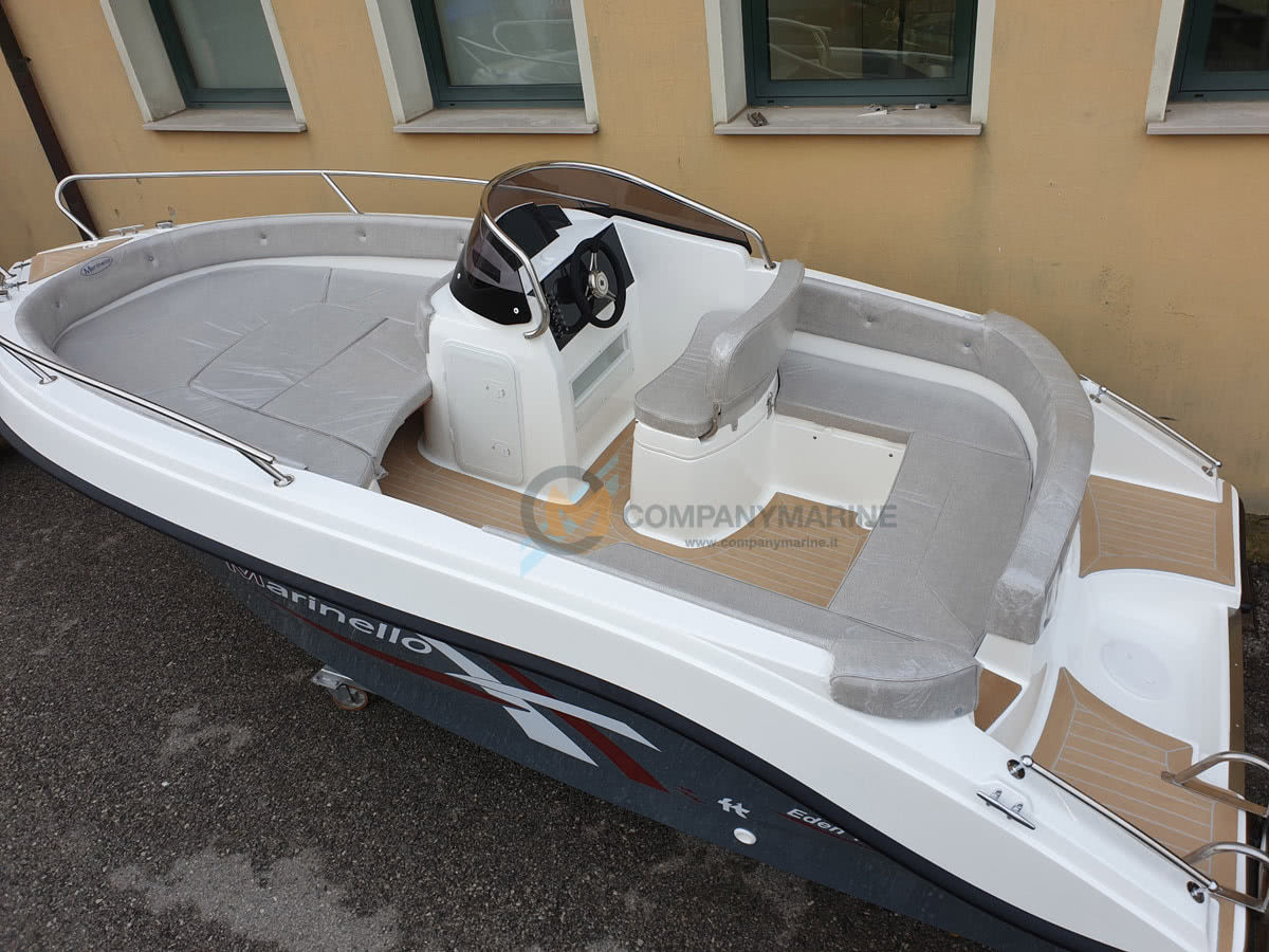 Barca Open Marinello 18 Eden Teak Edition Spazi interni