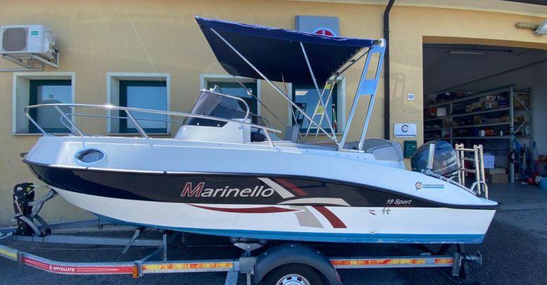 Marinello 19 Sport Cabin Usato + Yamaha F40 HETL Senza Patente