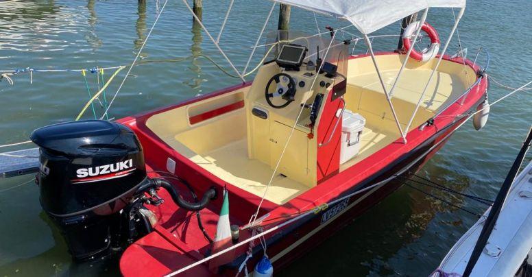 Barca Open Baruffaldi SeaFish 600 + Suzuki F100 4 tempi