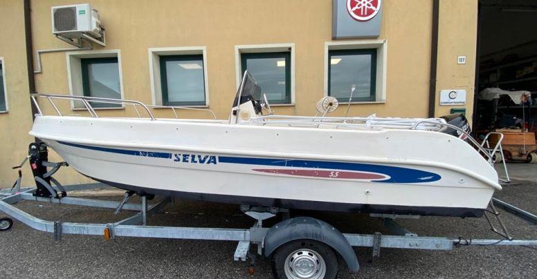 Barca Open Usata Selva 5.5 + Suzuki F40 4tempi Iniezione