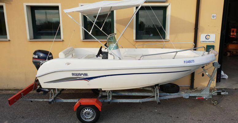 Barca open Aquamar + Selva F40 + Carrello stradale